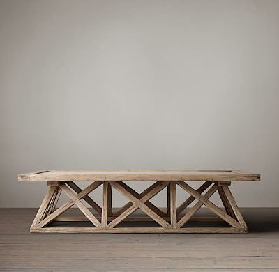 Restoration Hardware Timber Trestle Door Table