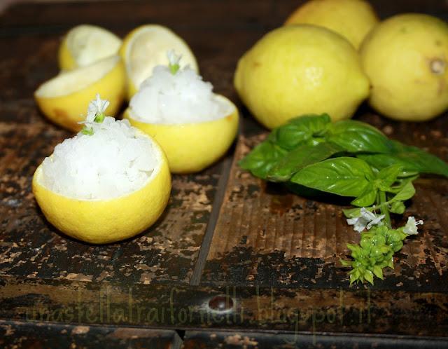 granita al limone aromatizzata al basilico