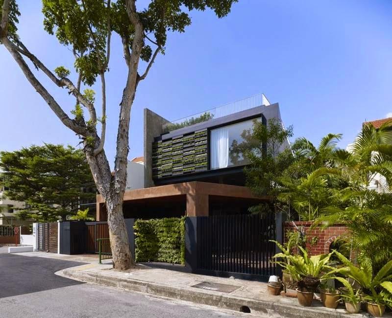 Fasad Campuran  Lantai 2 Konsep Ramah Lingkungan (ASRI)