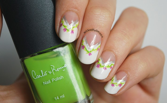 Wicked Fullmoon: | Nail Art | Medias lunas triangulares de primavera.