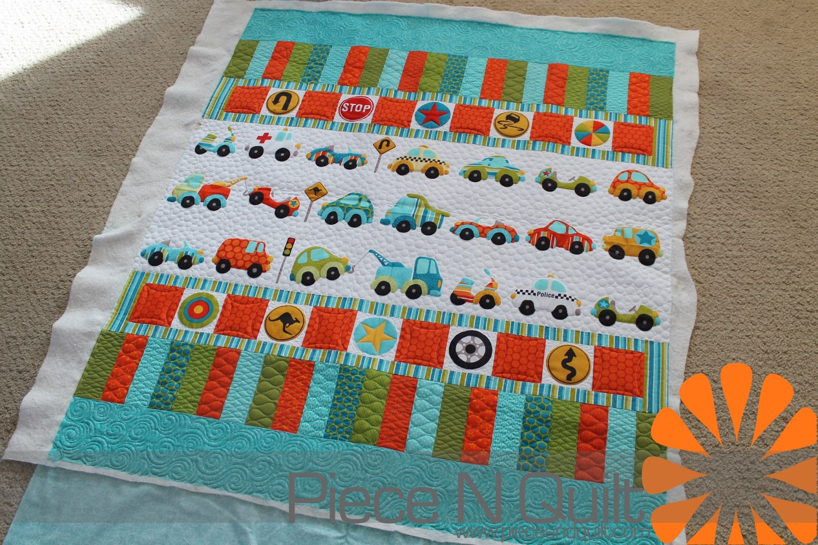 Piece n quilt car quilt little boy quilt for Boy quilt fabric