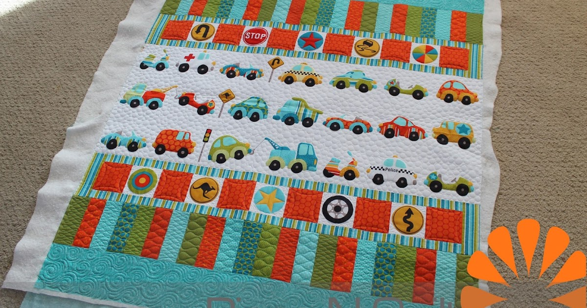 Baby Quilt Patterns For Boy : Piece N Quilt: Car Quilt - Little Boy Quilt