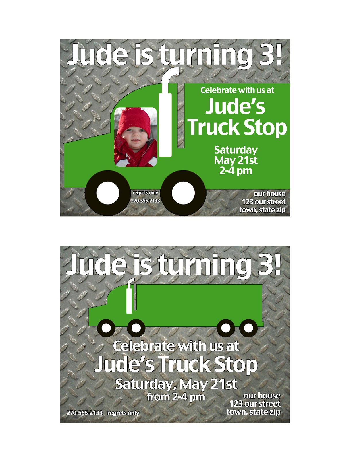 My Messy Manger: Semi Truck Birthday Decorations