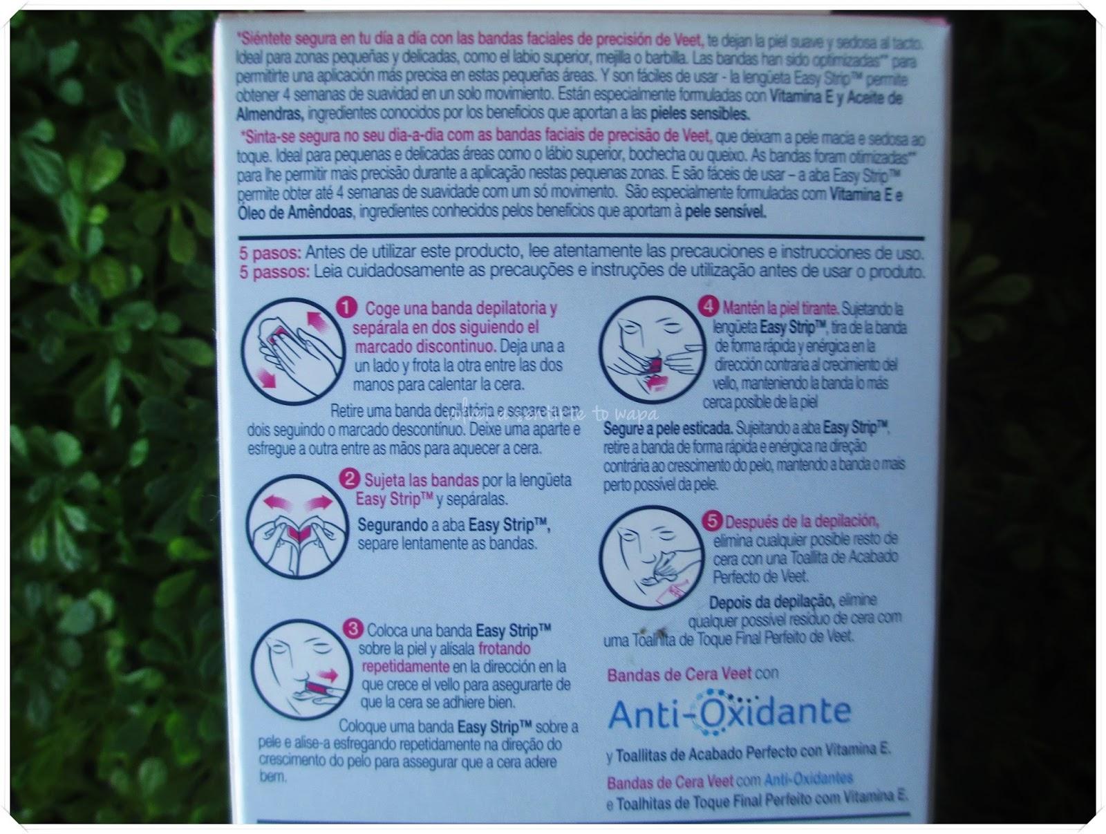 Veet - Bandas de cera faciales para Pieles Sensibles {review}