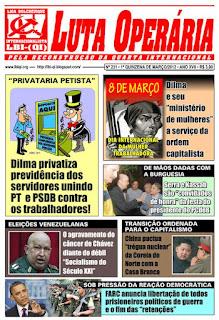 LEIA A EDIÇÃO DO JORNAL LUTA OPERÁRIA, Nº 231, 1ª QUINZENA DE MARÇO/2012