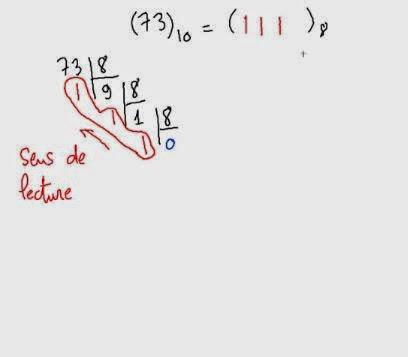 Exercice 9 Système de Numération : convertir décimal en octale