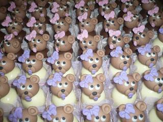 doce trufa decorada ursinhas