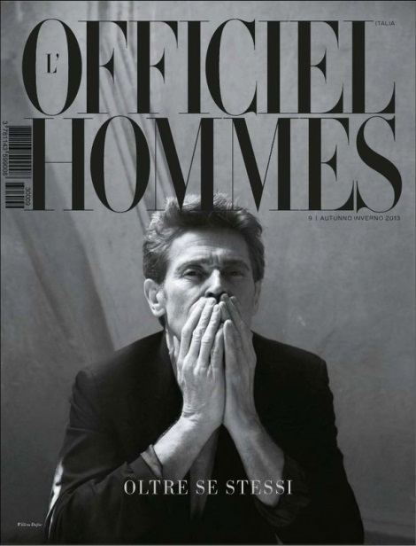 Willem Dafoe by Pablo Arroyo for L'Officiel Hommes Italia