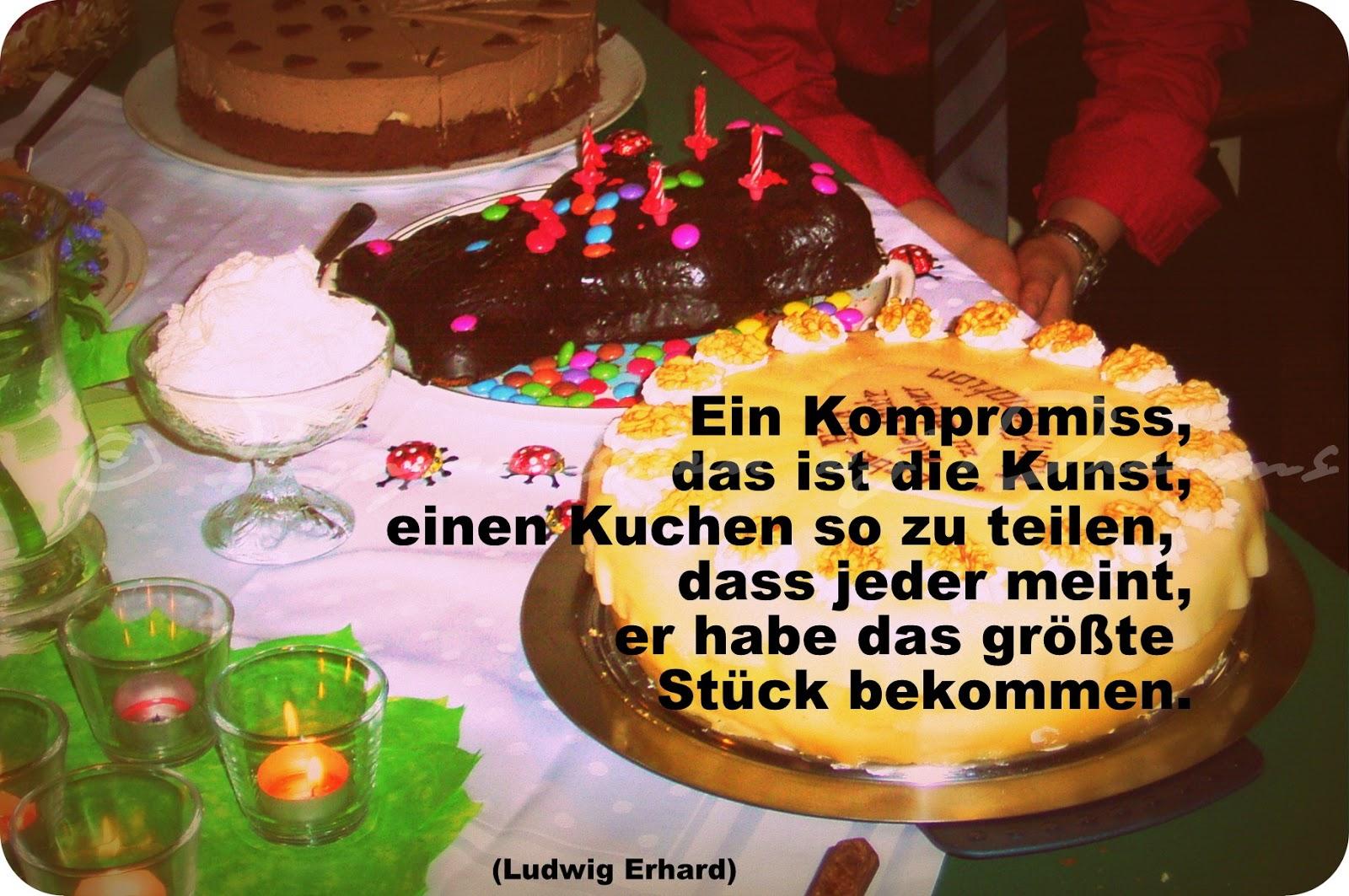 Ein Kompromiss, das ist die Kunst, einen Kuchen so zu teilen, dass jeder meint, er habe das größte Stück bekommen.