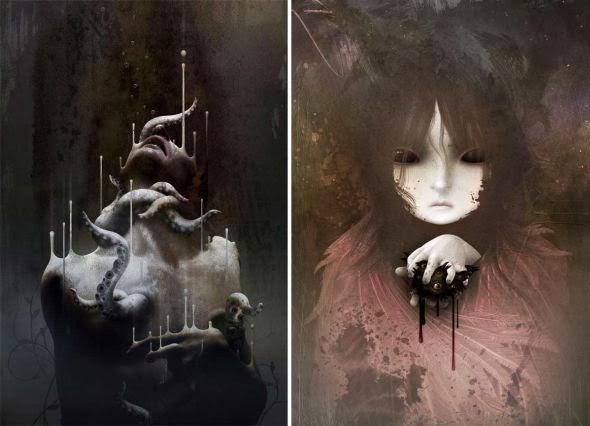 David Ho ilustrações surreais sombrias