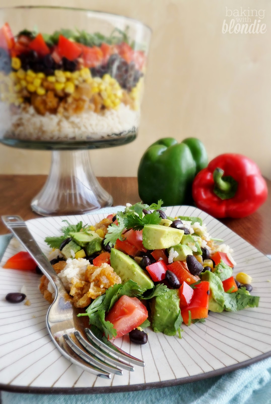 Layered Southwestern Rice Salad