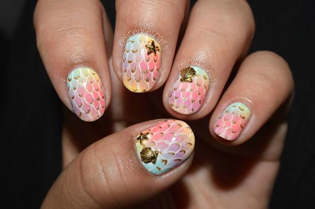 nails celine pastel mermaid