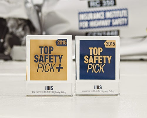IIHS Named Four Chevrolet Vehicles 2015 Top Safety Picks