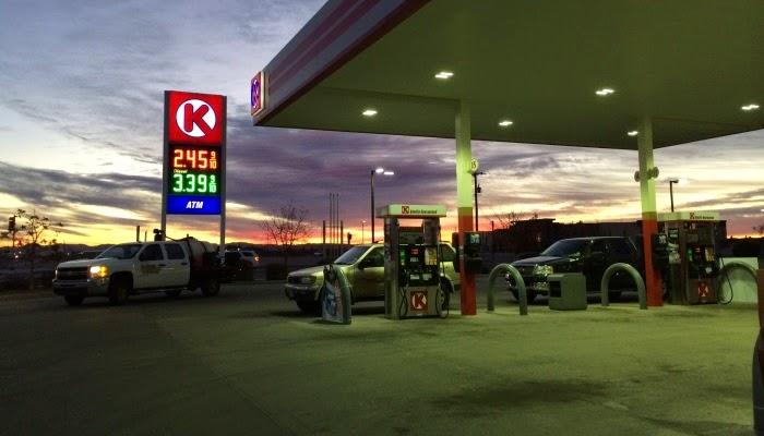 benzin priser i usa, her el paso i texas