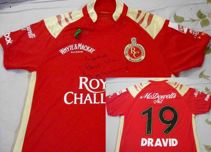 Most valued possession- Dravid jersey.