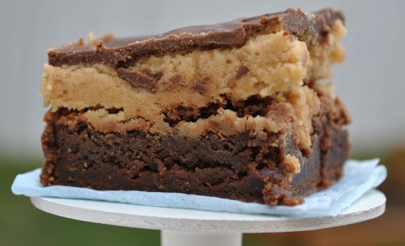 The Farm Girl Recipes: Peanut Butter Cookie Dough Brownies