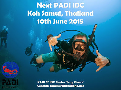 Next PADI IDC on Koh Samui, Thailand, 10th June 2015