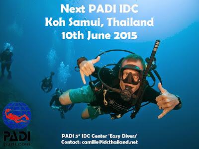 Next PADI IDC on Koh Samui, Thailand, 10th June 2015