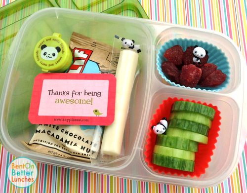 Easy panda lunch packed in EasyLunchboxes