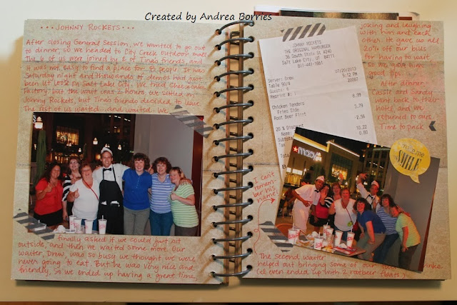 Samples of completed pages in my Summer 2013 This and That journal.