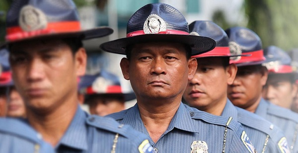 PNP Highway Patrol cops taking over EDSA