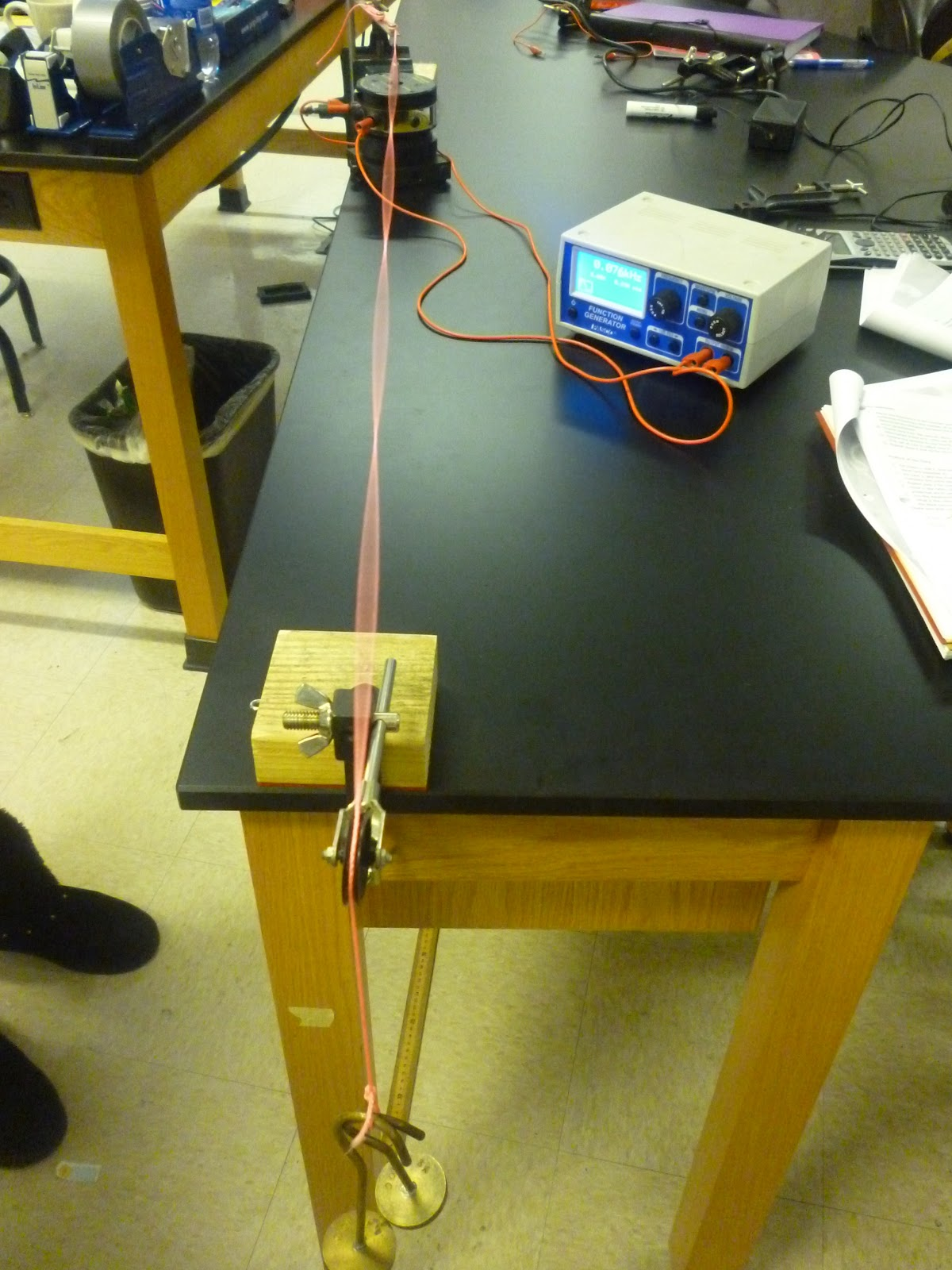 standing waves on a string lab report To find the velocity of waves on a string by measuring the wavelength and frequency of standing submit a formal lab report documenting what you did in the activity.