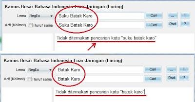 """Dengan kata kunci """"Batak Karo/Karo Batak/Suku Batak Karo"""""""