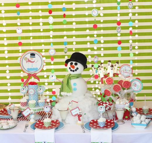 shindig snowman party2 standard Decoração de Natal: enfeites