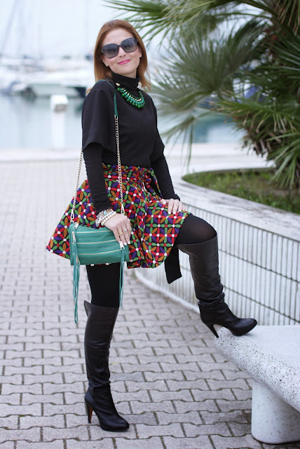 letthemstare.com, Let them stare bow skirt, Rebecca Minkoff zipper bag, Fashion and Cookies, fashion blogger