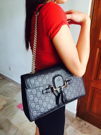 Gucci Emily Guccissima Leather Chain Shoulder Bag 27