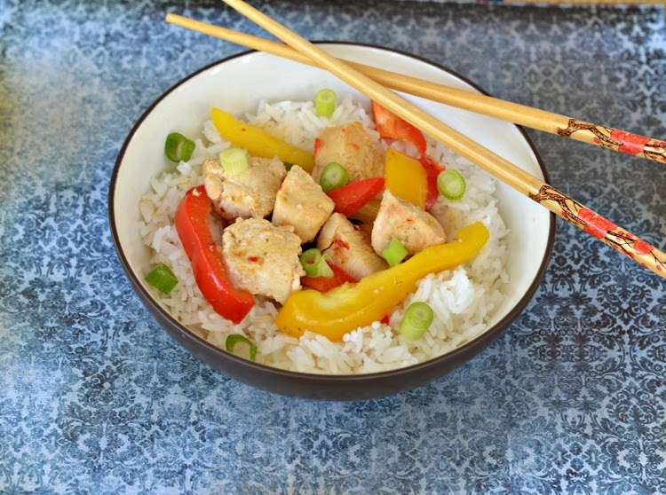 Thai ginger chicken with basil stir fry hezzi ds books and cooks thai ginger chicken with basil stir fry using dorot garlic and herbs forumfinder Image collections