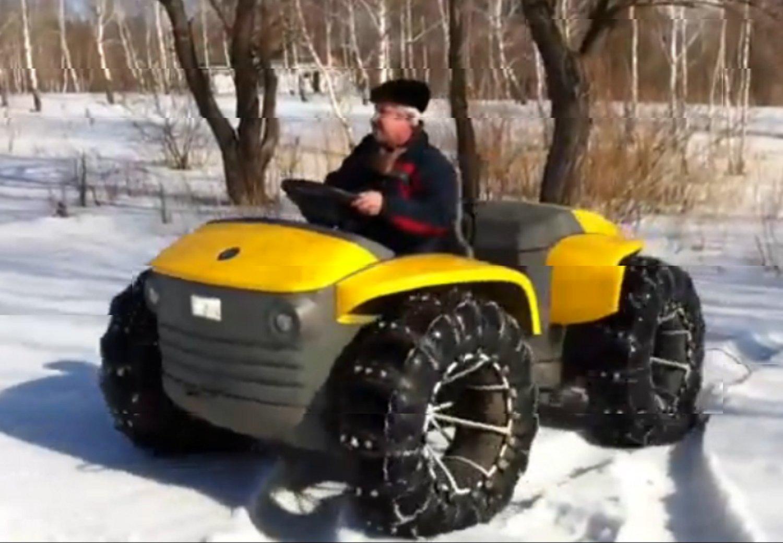 Новый снегоход Кит на пневмоколесах