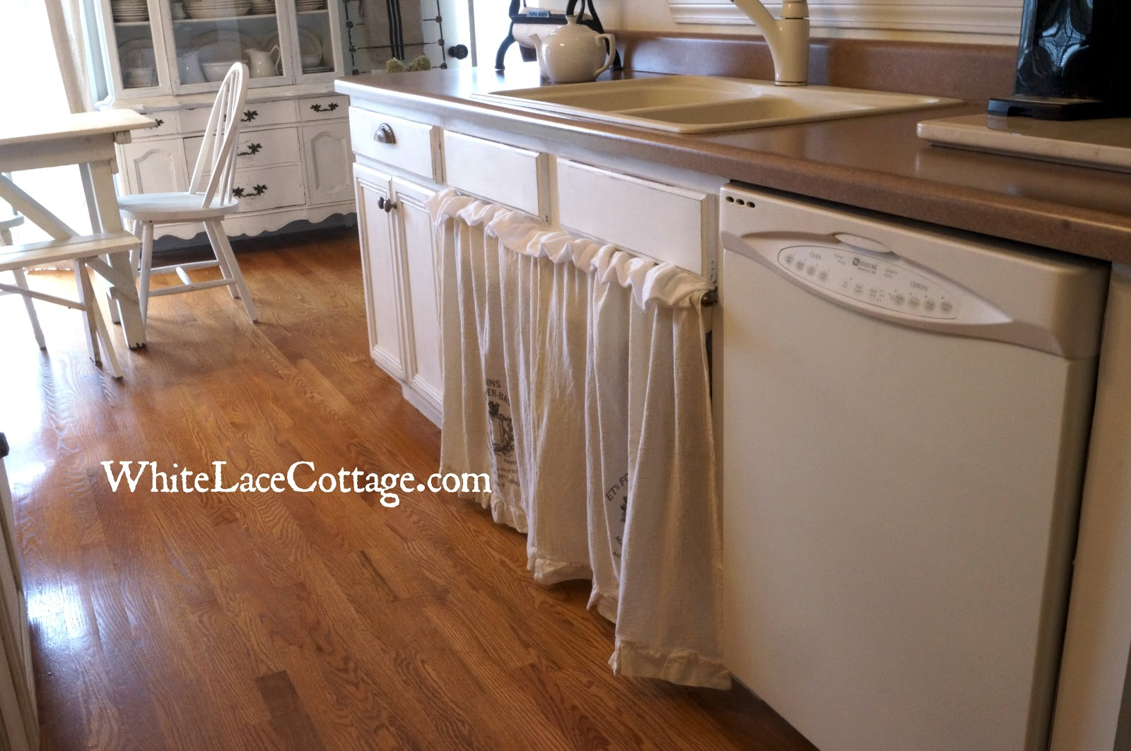 Kitchen Sink In French Kitchen Sink Skirt A Painted Blanket Chest And A Little French Too