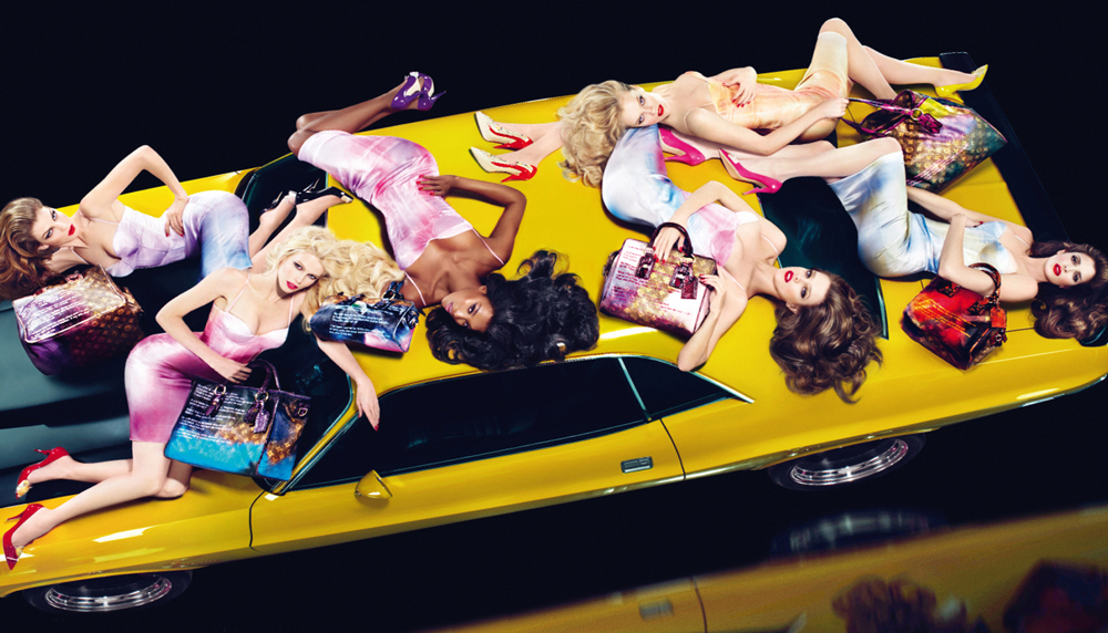 Claudia Schiffer, Naomi Campbell, Natalia Vodianova, Stephanie Seymour, Eva Herzigova & Angela Lindvall photographed by Mert & Marcus for Louis Vuitton Spring/Sumemr 2008 campaign via fashioned by love british fashion blog