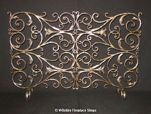 WROUGHT IRON FIREPLACE SCREENWrought Iron Fireplace Accessories at Wilshire Fireplace Shop  . Custom Wrought Iron Fireplace Screens. Home Design Ideas
