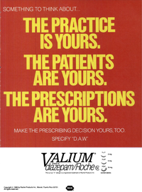 Former Valium Marketing Material To Doctors To Protect Brand Sales
