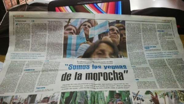 SOMOS LAS YEGUAS DE LA MOROCHA
