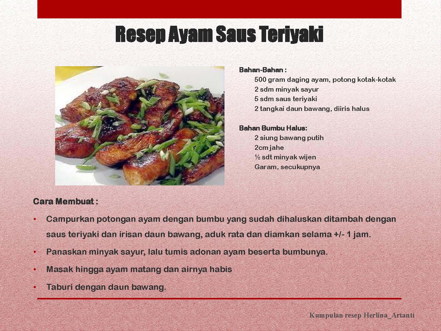 juhi resep comment on this picture resep ayam saus teriyaki