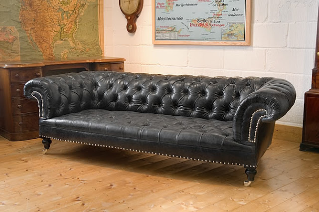 Ballpoint Pen Leather Couch