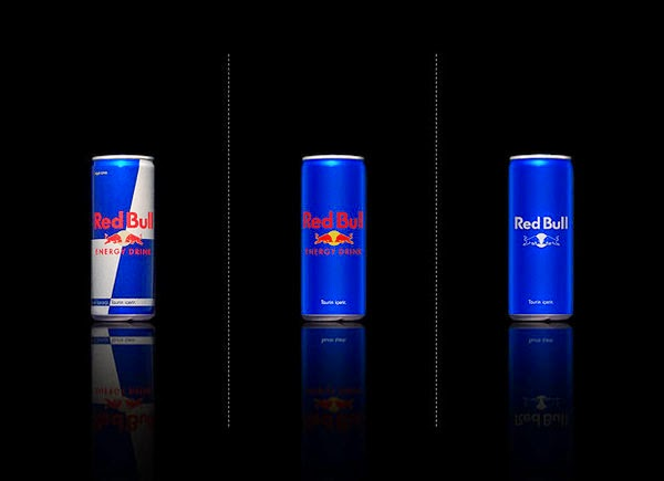 Red Bull bared Packaging design