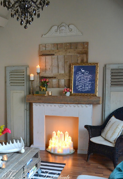 The poor sophisticate our springy bohemian shabby funk updated lounge for Camino finto shabby