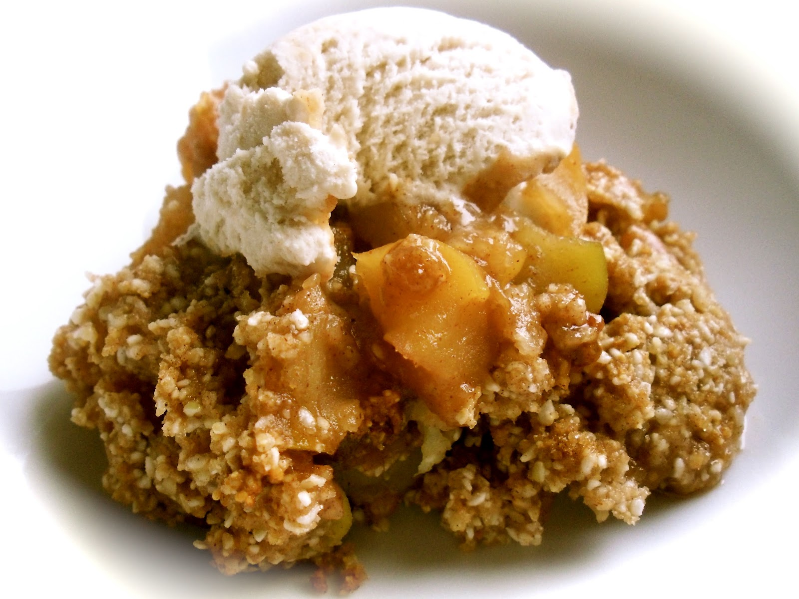 ... - The traveling vegan chef: Gluten-free Vegan Toffee Apple Crisp