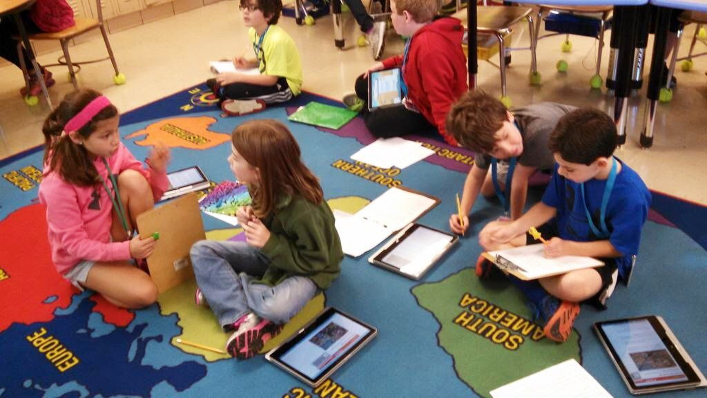 Collaborative Work Classroom ~ Educational technology lesson cooperative learning
