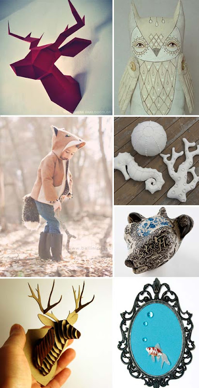 faux handmade animal items for home decor decorations