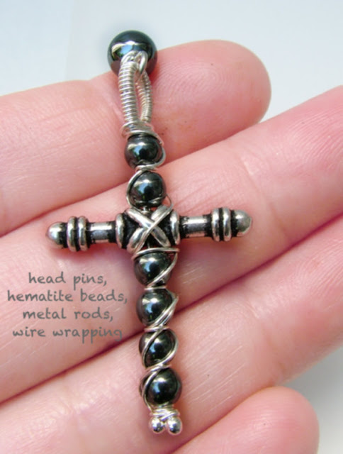 C. Handmade Rod and Hematite Cross