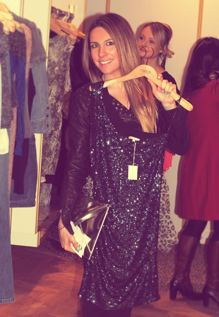 Mónica, fundadora de uno de los mejores blogs de moda españoles, acudió a la inauguración de Maje, en La Roca Village, Barcelona.
