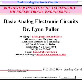 Basic Analog Electronic Circuits