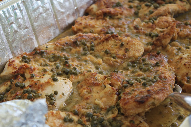 Chicken piccata for Italian-themed bridal shower