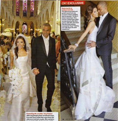 dresses in eva longoria's wedding