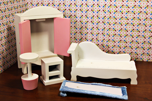 the lounger padding is a thin piece of cardboard with fabric glued around it the pillow is glued to the top of the mattress and youd probably have to heat dreamz bathroom dollhouse